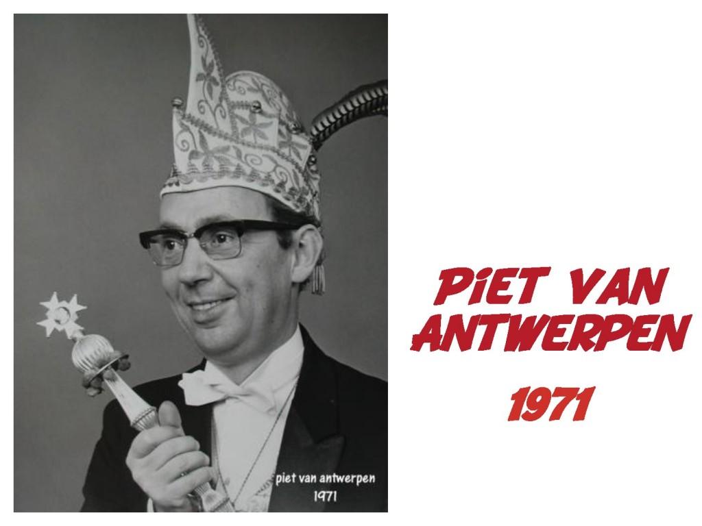 Piet van Antwerpen: 1971