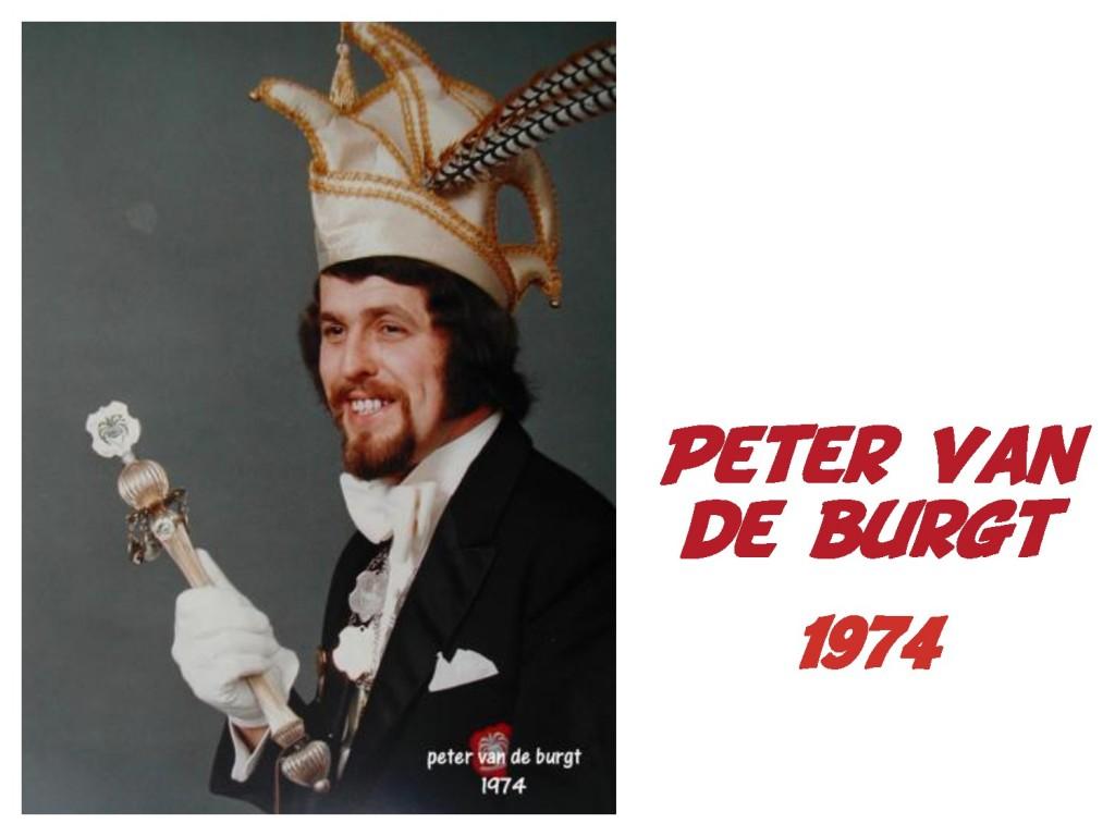 Peter van de Burgt: 1974