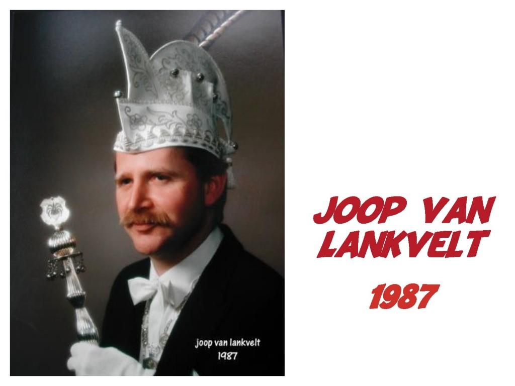 Joop van Lankvelt: 1987