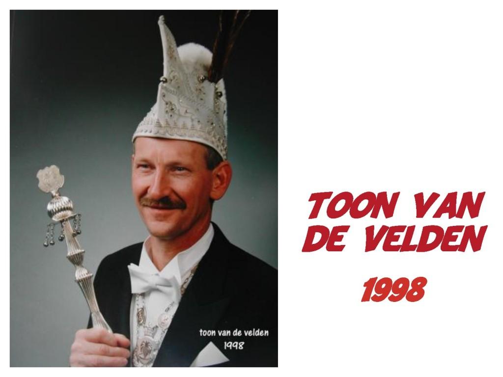 Toon van de Velden: 1998