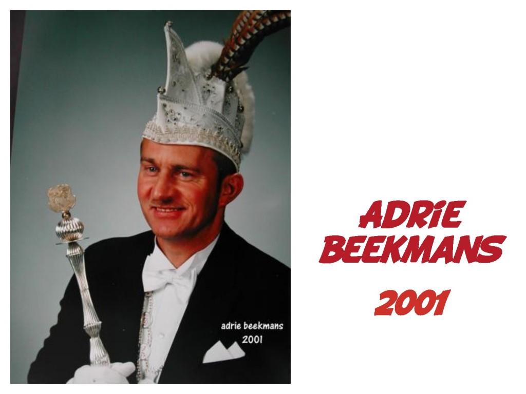 Adrie Beekmans: 2001
