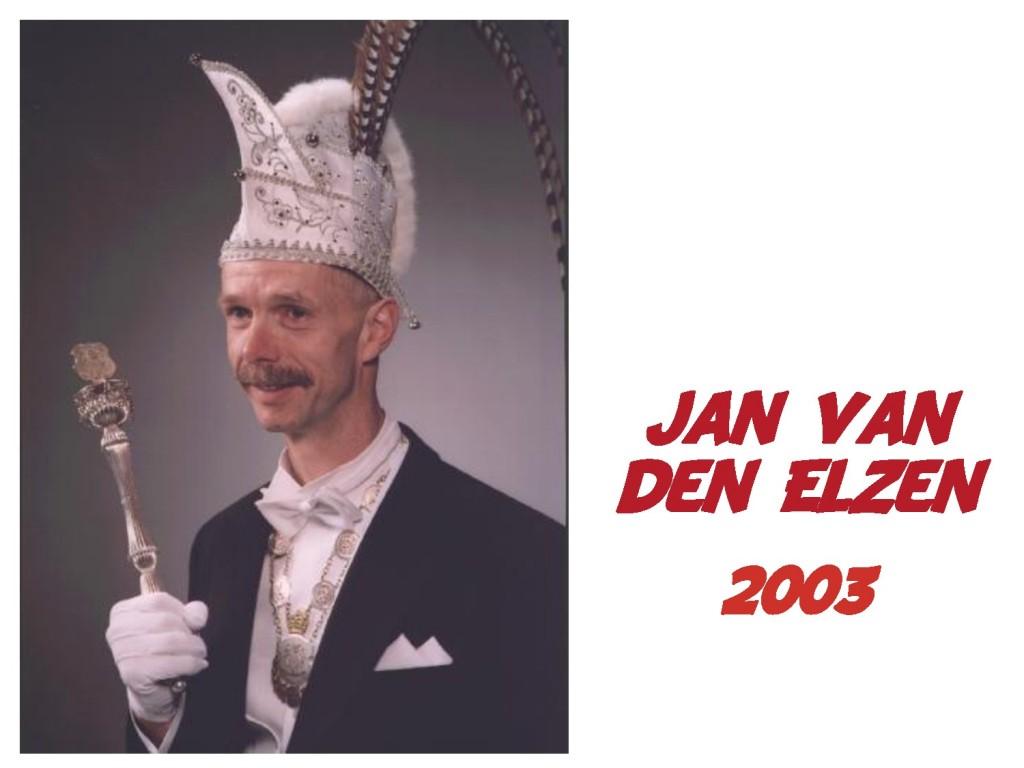 Jan van den Elzen: 2003
