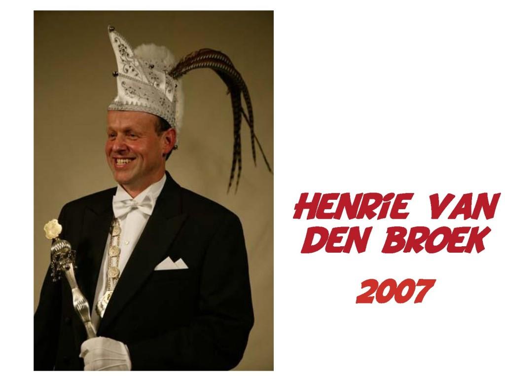 Henri van den Broek: 2007