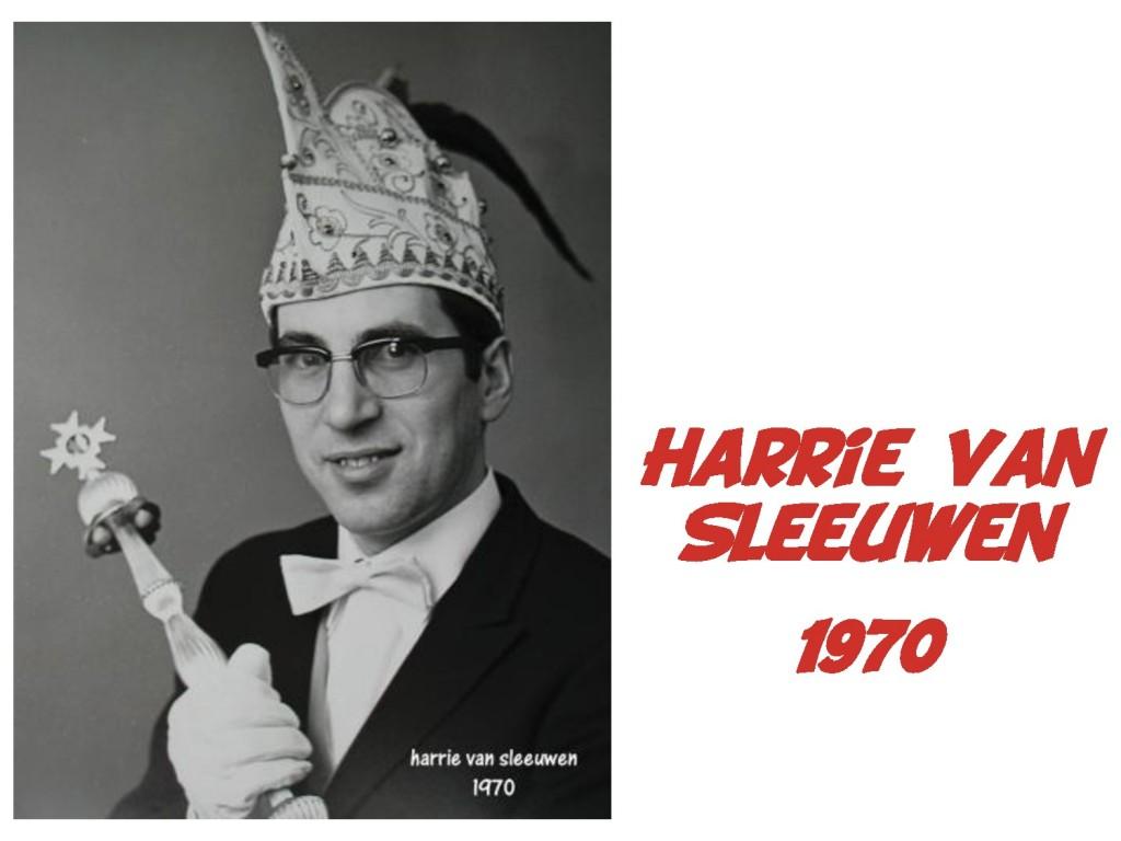 Harrie van Sleeuwen: 1970