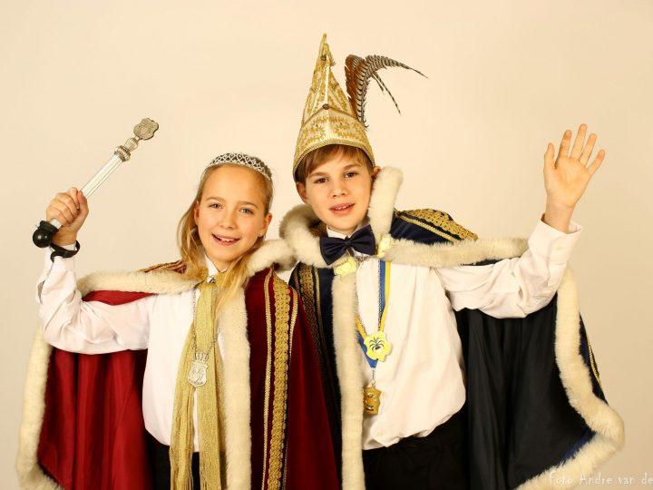 De nieuwe Jeugdprinses Merit en Jeugdvorst Loet